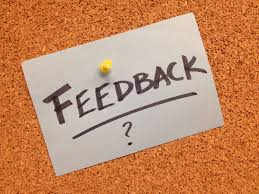 Post it note with feedback written on