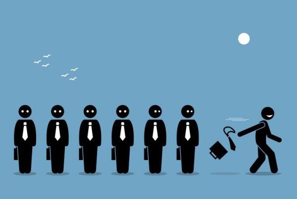 Illustration of employee leaving