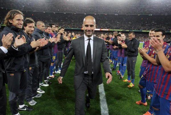 Pep Guardiola manager guard of honour
