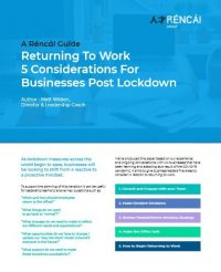 Returning to work guide front cover